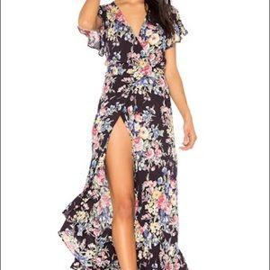 Auguste floral maxi wrap dress